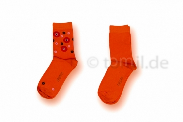 "Girlsocken ""Punkte"" in lila, orange & blau von Ergora Gr. 27/30 & 31/34 im 2er Pack nahtlos"