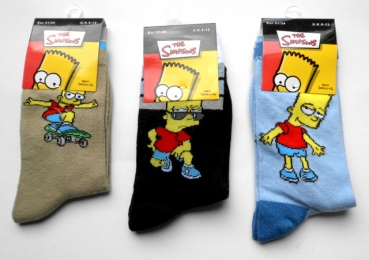 Bart Simpsons die Kindersocken Gr. 23/26, 27/30 & 31/34