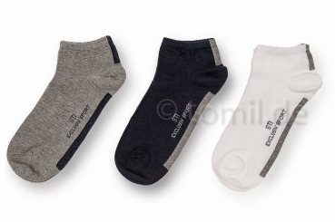 """Teenager"" Sneakersocken ""Sympatico"" Gr. 35/38 im 3er Pack gekettelt"