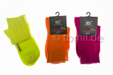 Damensocken RS in Neonfarben Gr. 35/38 & 39/42 im 3er Pack