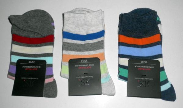 faab6680c1e7c Ringelsocken aus Baumwolle mit Weichbund in hellen Farben im 3er Pack von  RS Gr. 35/38 & 39/42